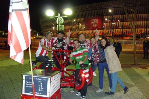 La peña pedalea (Visita guiada), bici Athletic, especial peñas del Athletic Club Bilbao