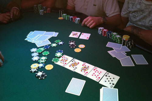 Partida Poker Texas Hold'em, all-in